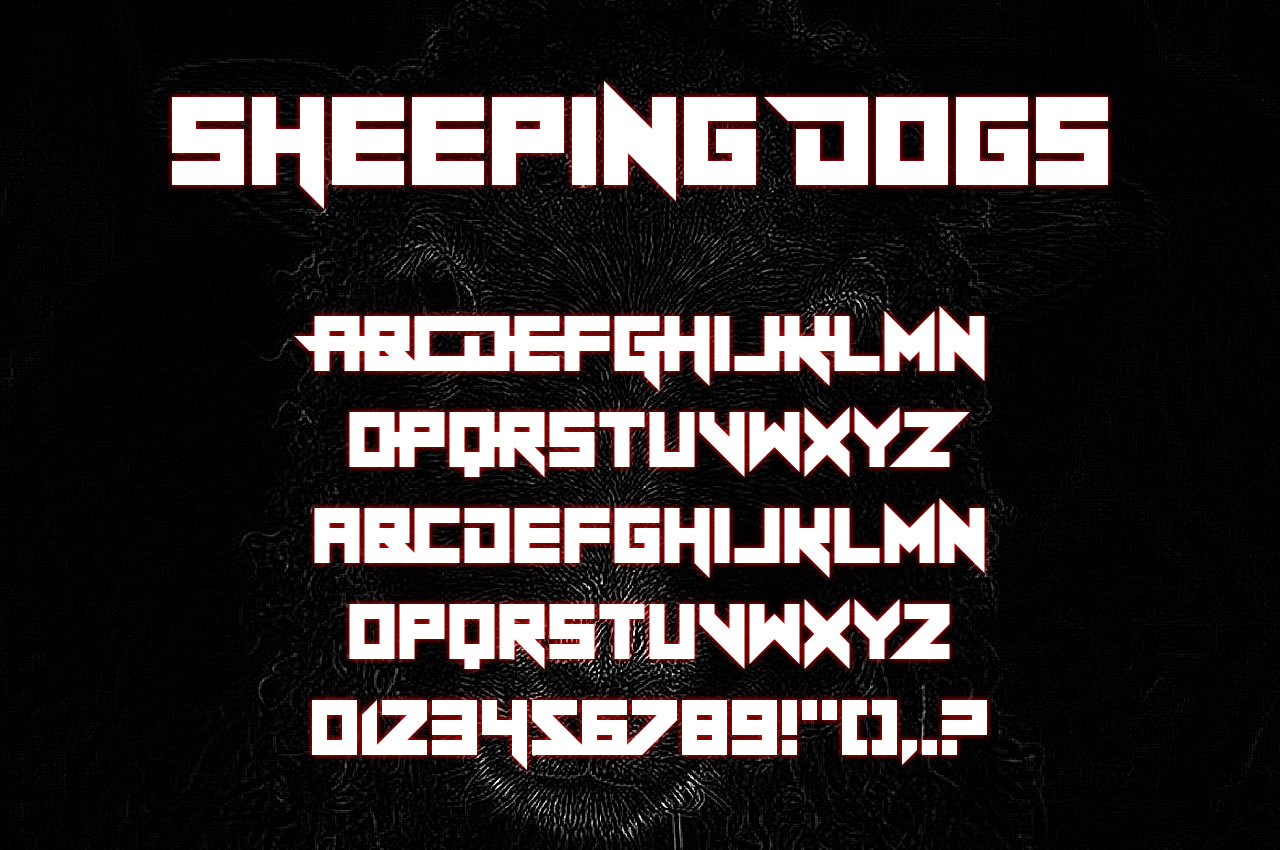 Print on Demand: Sheeping Dogs Display Font By Chequered Ink - Image 2