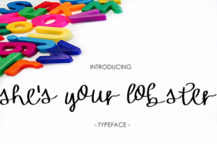 Print on Demand: She's Your Lobster Script & Handwritten Font By yh.seaofknowledge