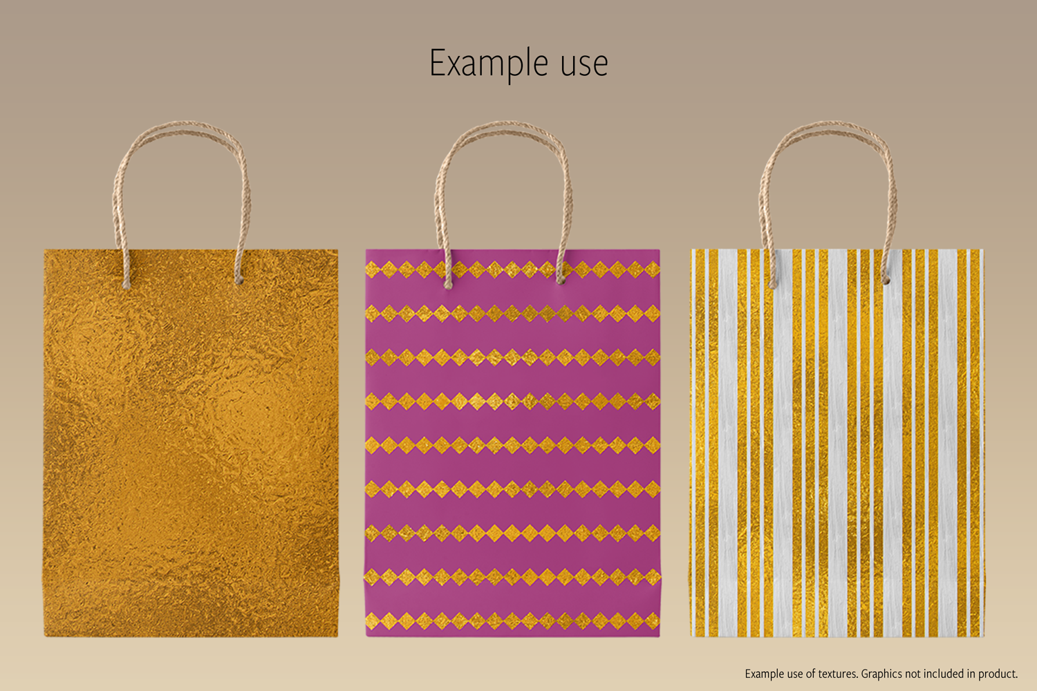 Print on Demand: Shiny Gold Foils Graphic Textures By JulieCampbellDesigns - Image 3