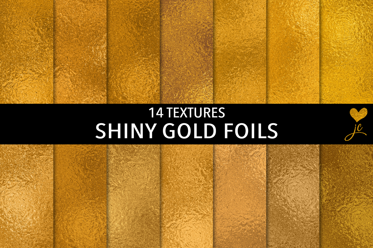 Print on Demand: Shiny Gold Foils Graphic Textures By JulieCampbellDesigns