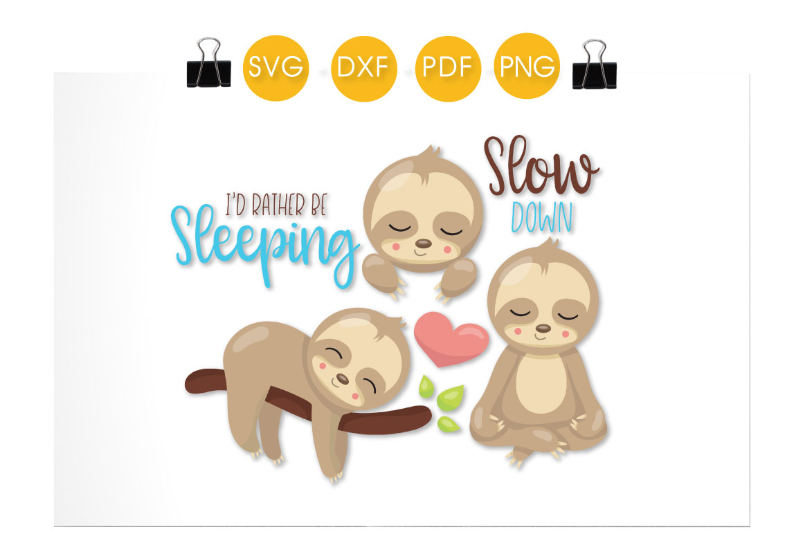 Sleeping Sloths Graphic Download