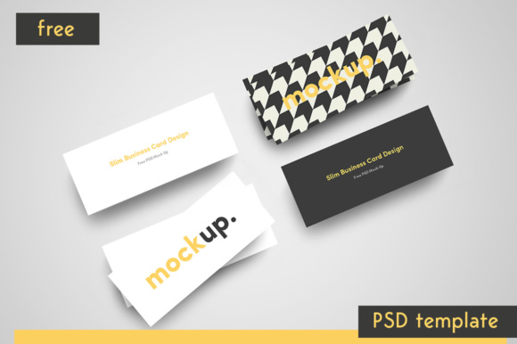 Slim Business Card Graphic Product Mockups By Creative Fabrica Freebies - Image 2