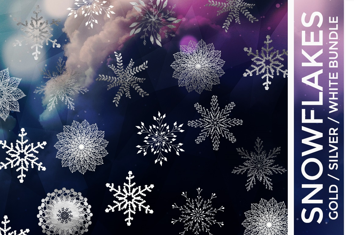 Print on Demand: Snowflake Vector Bundle Graphic Illustrations By illuztrate