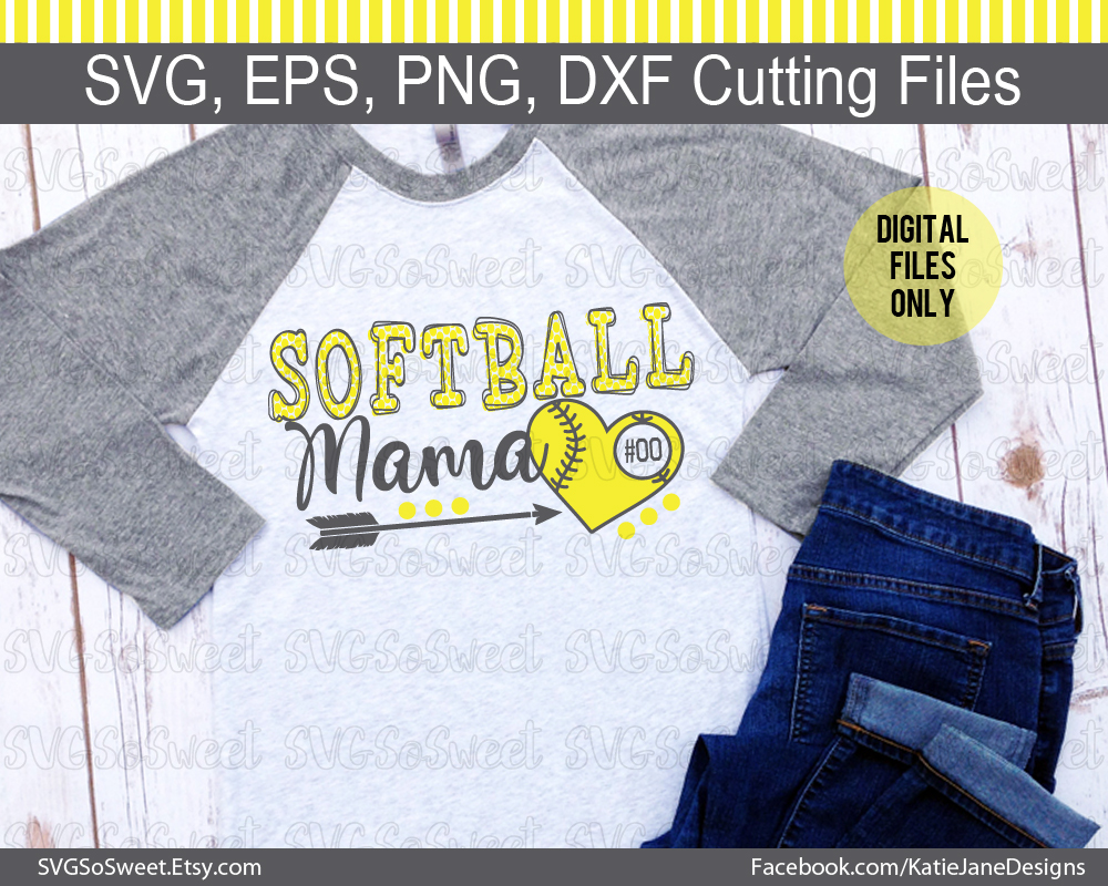 Softball Mama SVG Graphic By Southern Belle Graphics Image 2