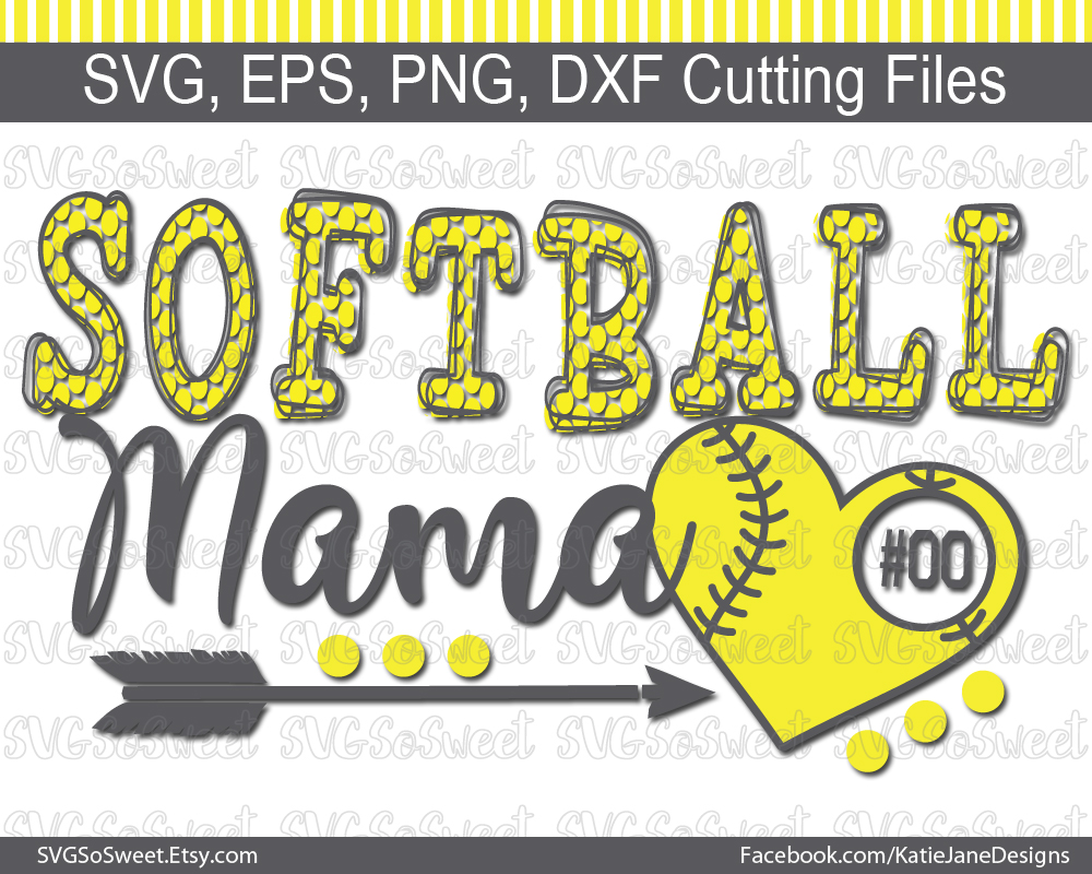 Softball Mama SVG Graphic Crafts By Southern Belle Graphics