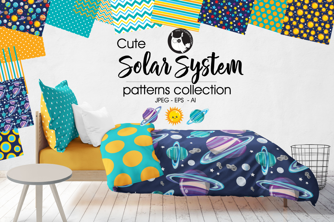 Print on Demand: Solar System Graphic Patterns By Prettygrafik