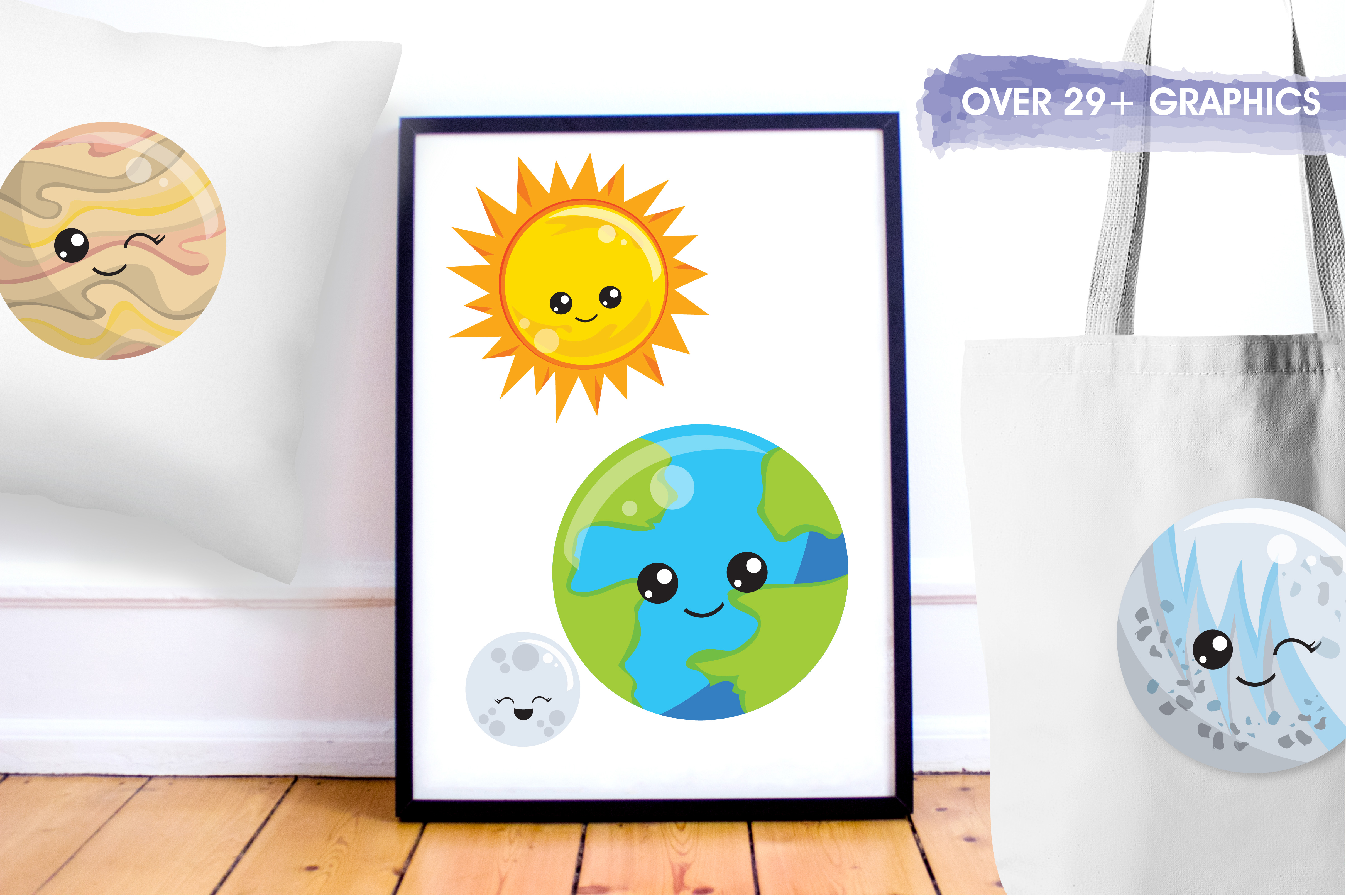 Download Free 29 Solar System Graphic By Prettygrafik Creative Fabrica for Cricut Explore, Silhouette and other cutting machines.