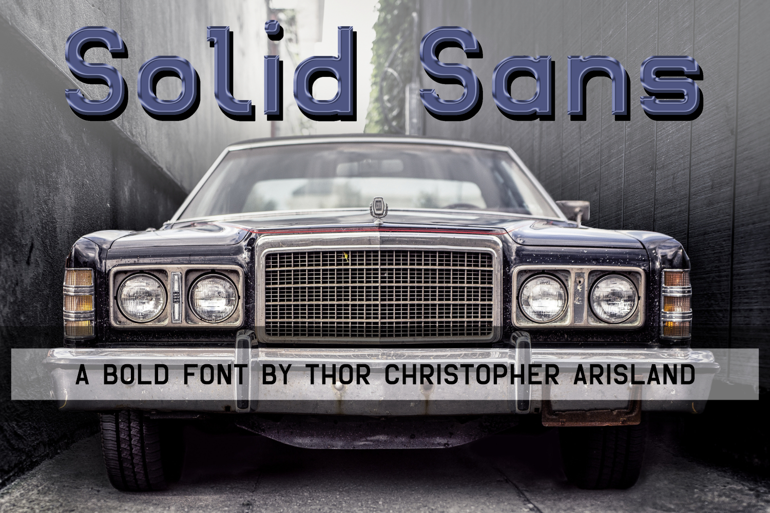 Print on Demand: Solid Sans Sans Serif Font By thorchristopherarisland
