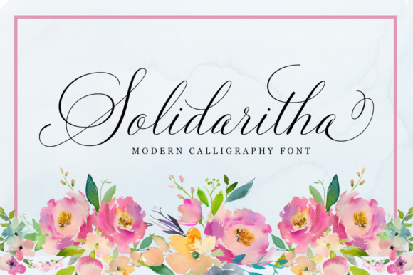 Print on Demand: Solidaritha Script & Handwritten Font By Great Studio - Image 1