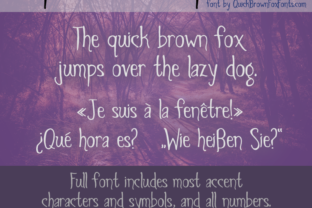 Spiders and Sparrows Font By Quick Brown Fox Fonts