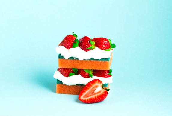 Sponge Cake. Graphic Food & Drinks By Sasha_Brazhnik