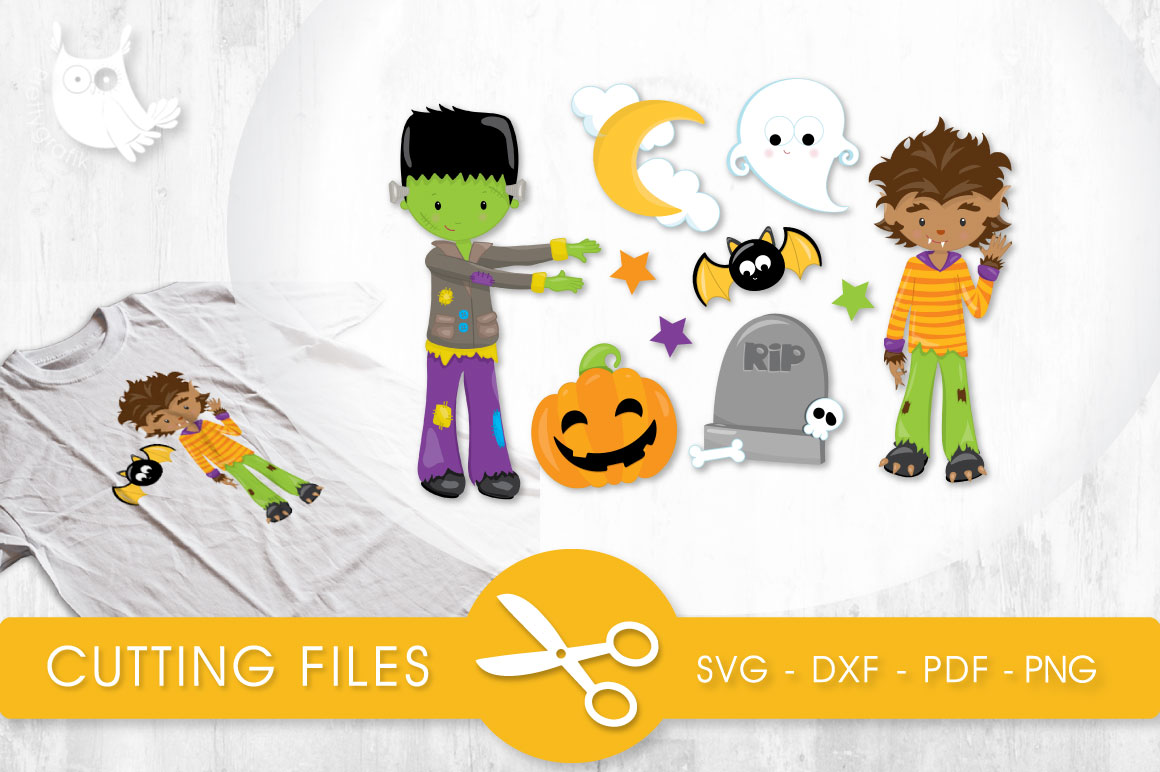 Spooktacular Boys Graphic Crafts By PrettyCuttables
