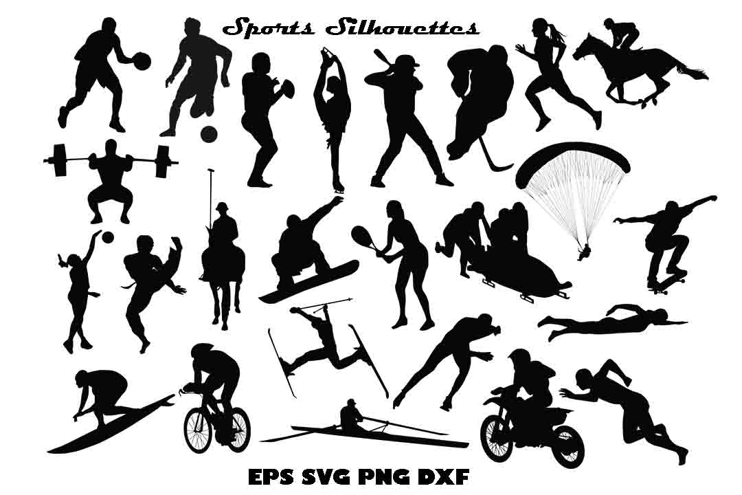 Download Free Sports Silhouette Graphic By Twelvepapers Creative Fabrica SVG Cut Files