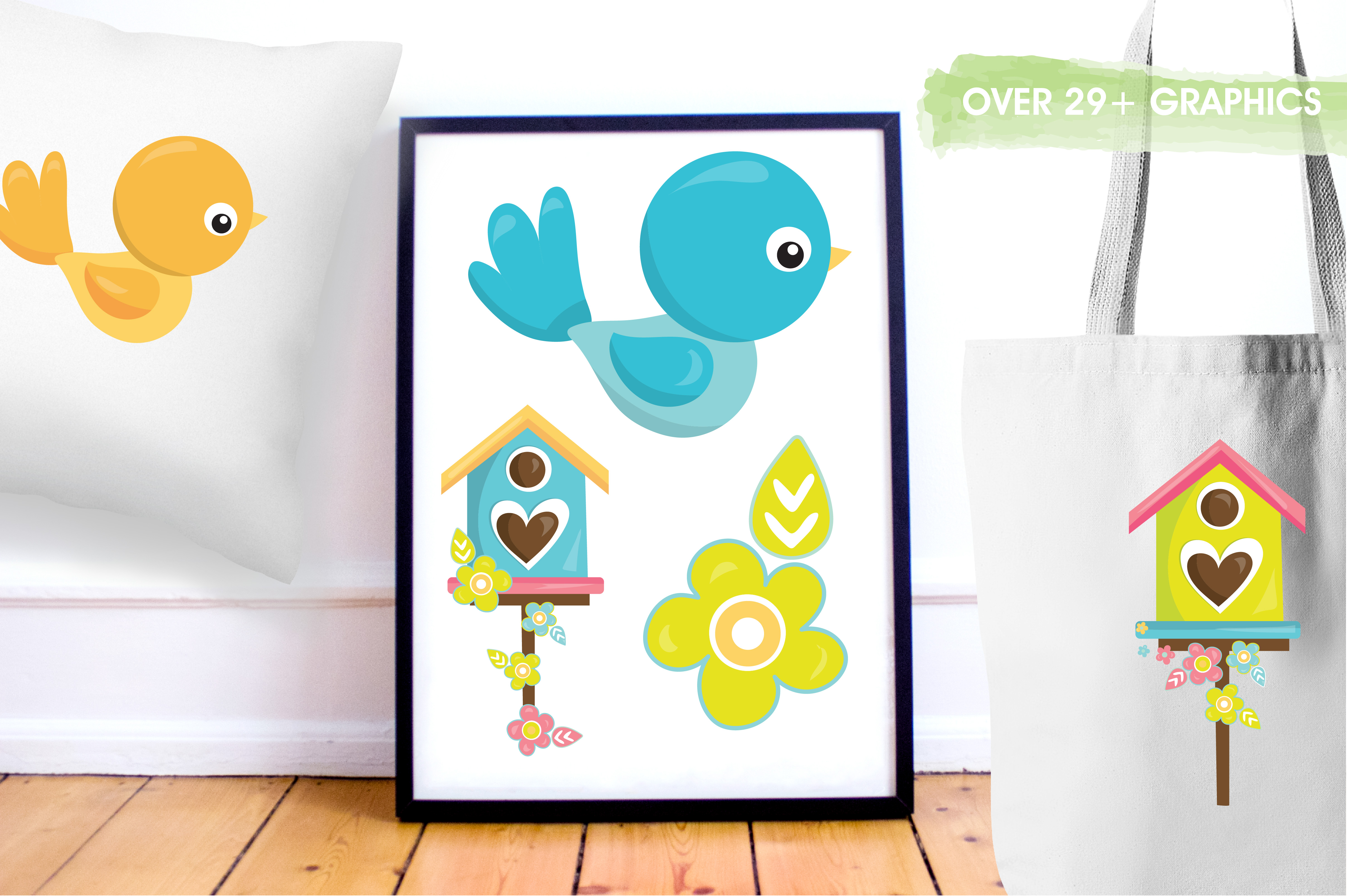 Print on Demand: Spring Birds Graphic Illustrations By Prettygrafik - Image 5