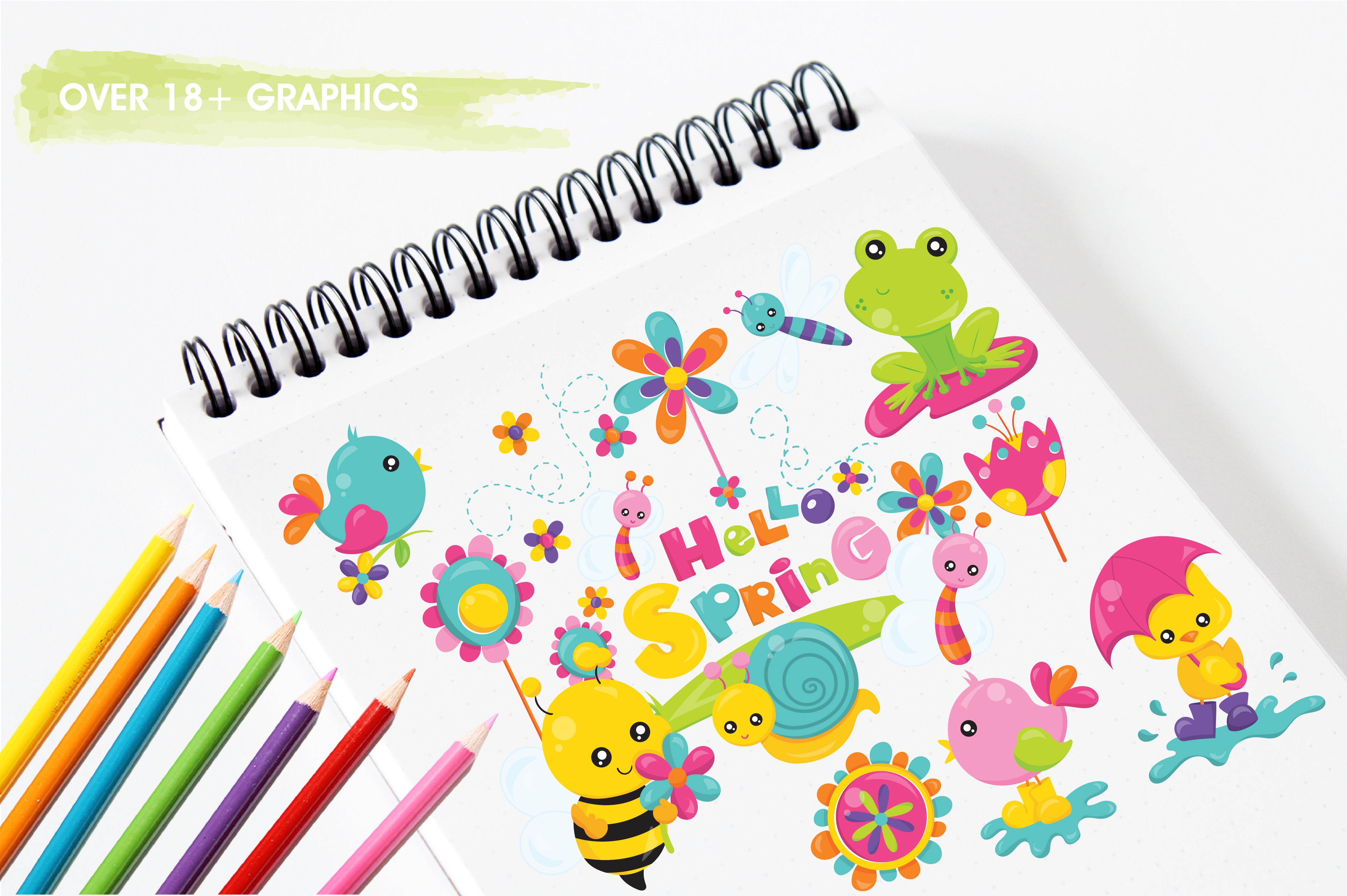 Print on Demand: Spring Bugs Graphic Illustrations By Prettygrafik - Image 3