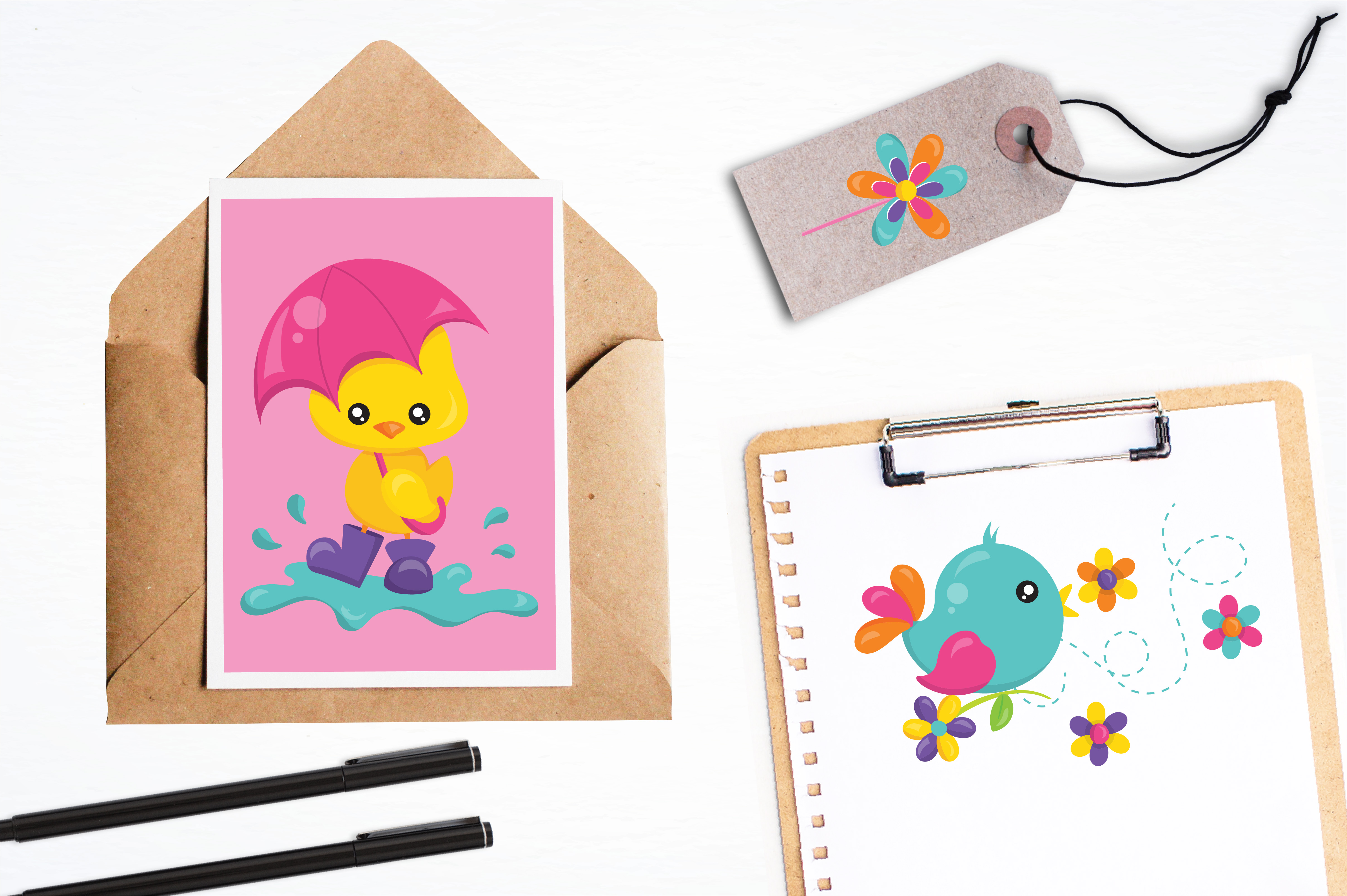 Print on Demand: Spring Bugs Graphic Illustrations By Prettygrafik - Image 4