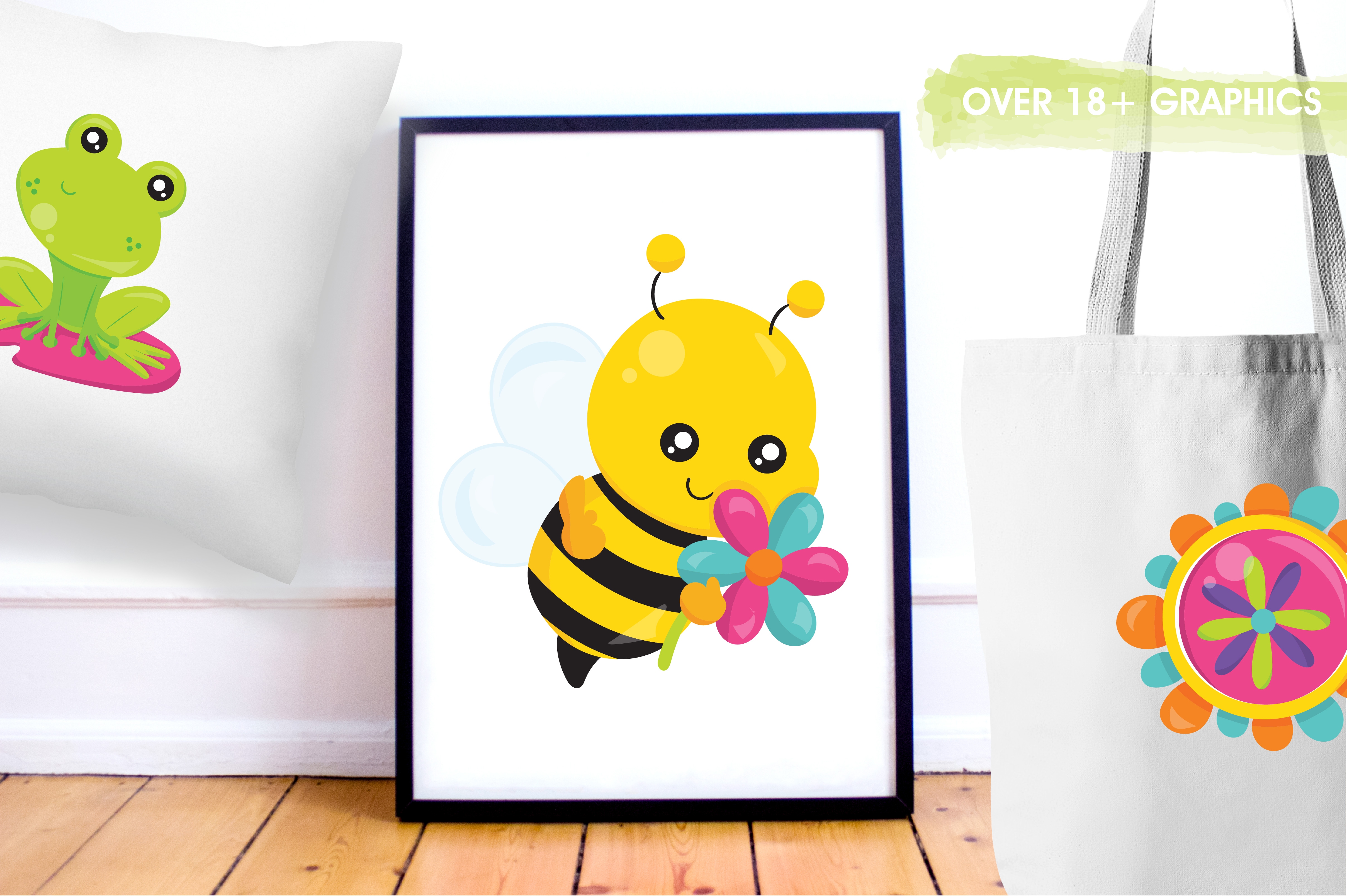 Print on Demand: Spring Bugs Graphic Illustrations By Prettygrafik - Image 5