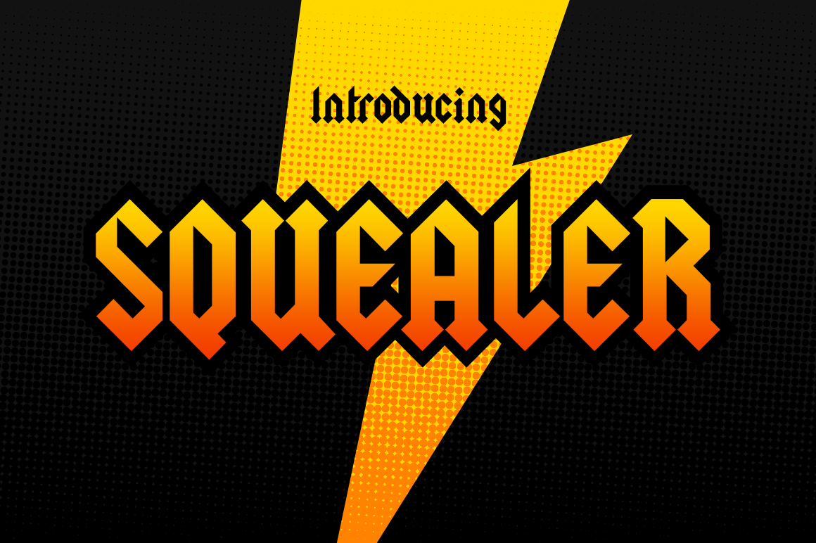 Print on Demand: Squealer Display Font By Typodermic