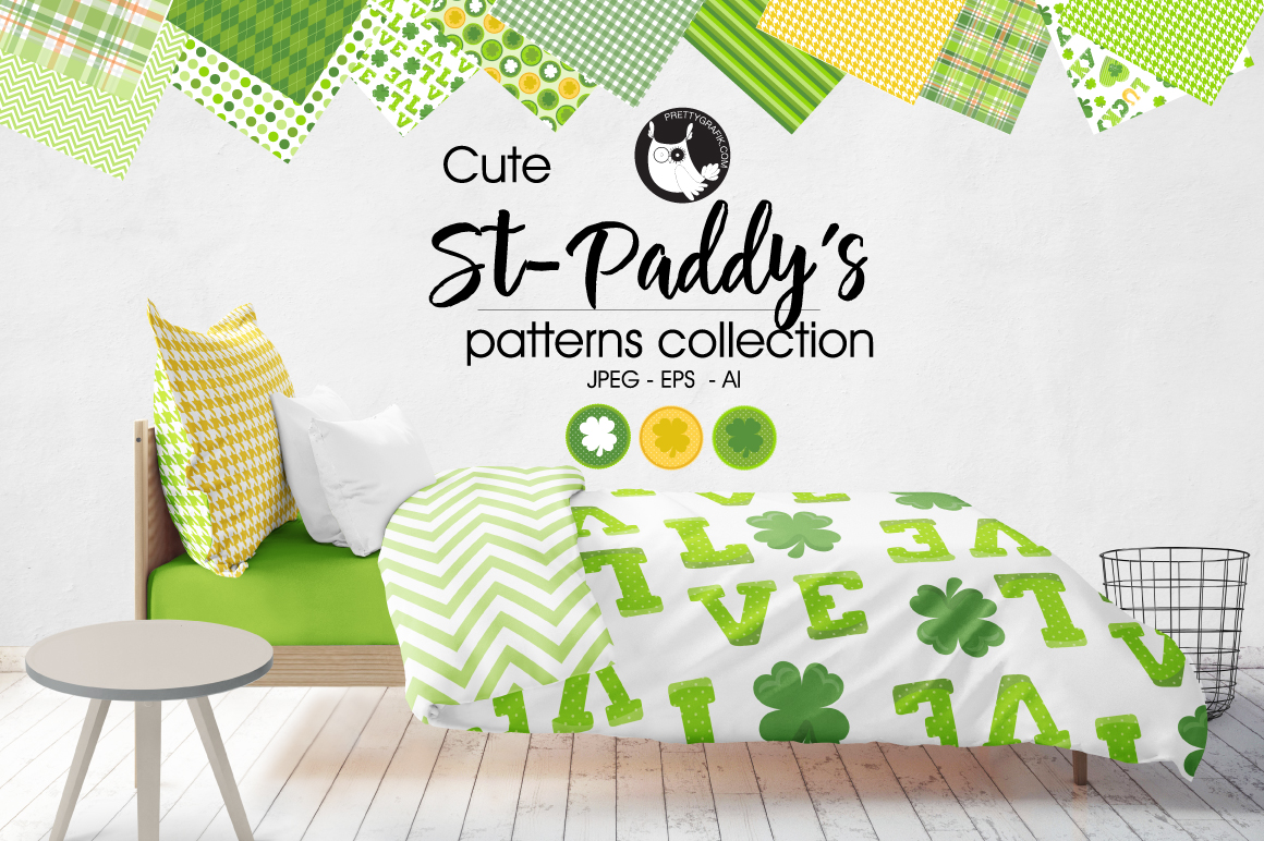 Print on Demand: St-Paddy's Graphic Patterns By Prettygrafik