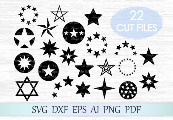 Download Free Stars Graphic By Magicartlab Creative Fabrica for Cricut Explore, Silhouette and other cutting machines.