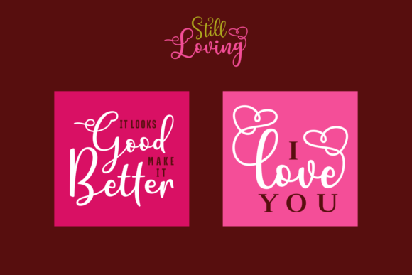Still Loving Font Downloadable Digital File