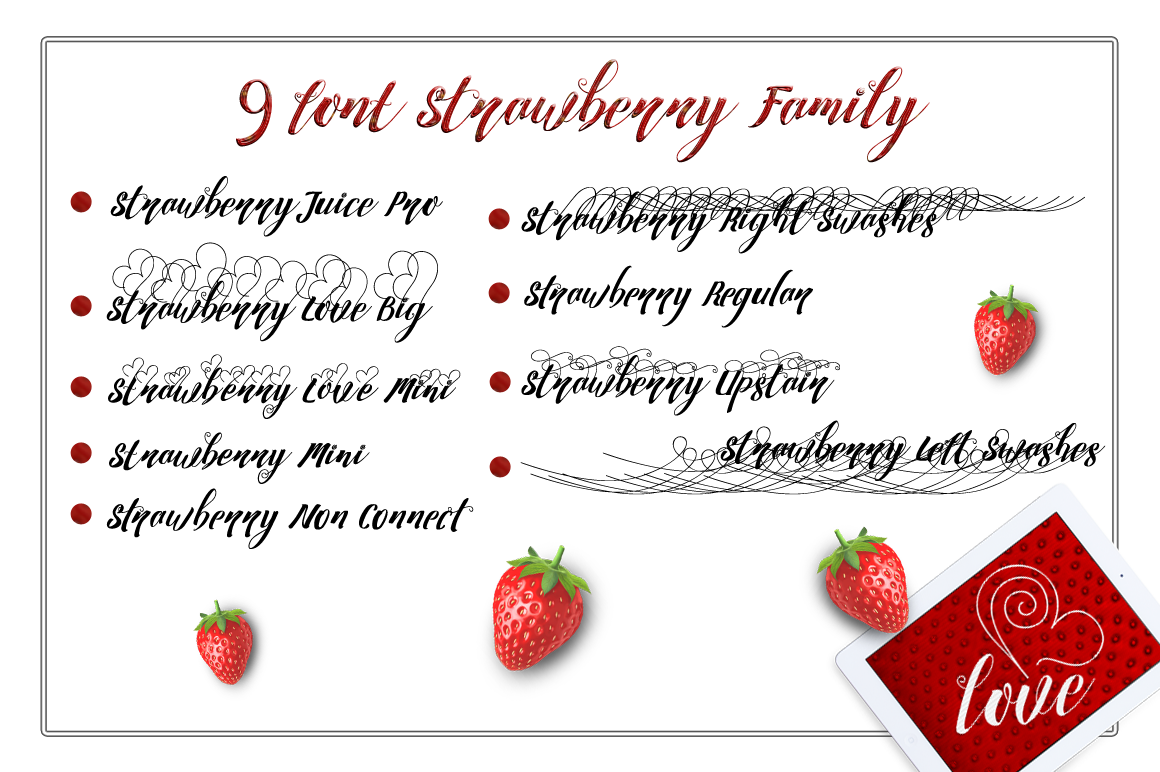Print on Demand: Strawberry Script & Handwritten Font By feydesign - Image 2