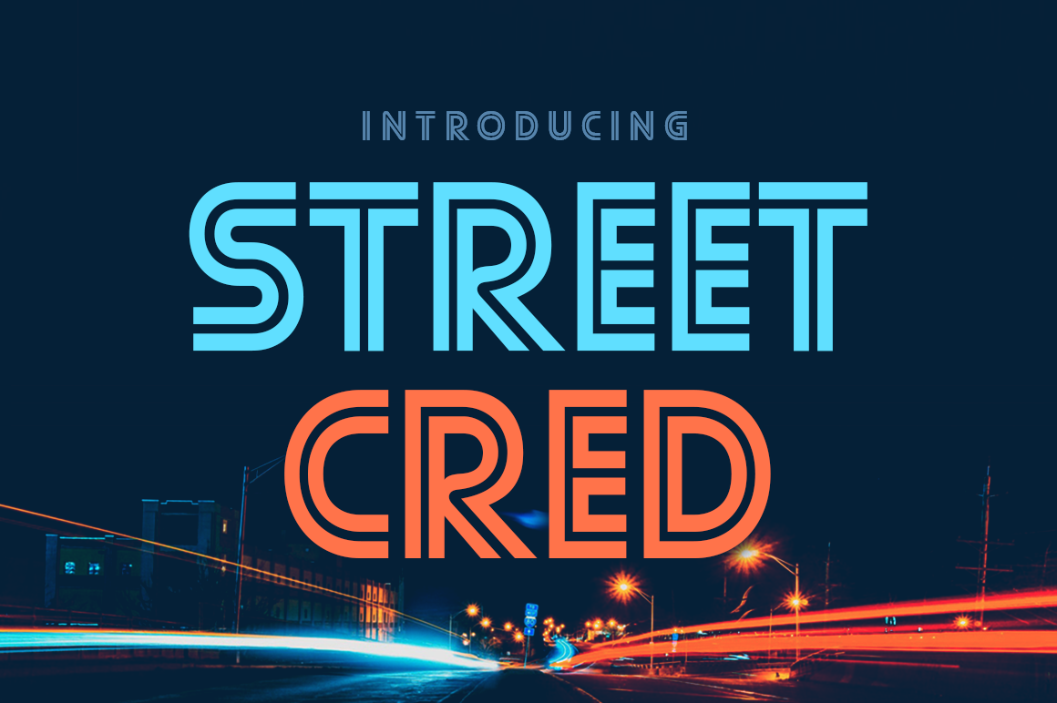 Print on Demand: Street Cred Decorative Font By Typodermic
