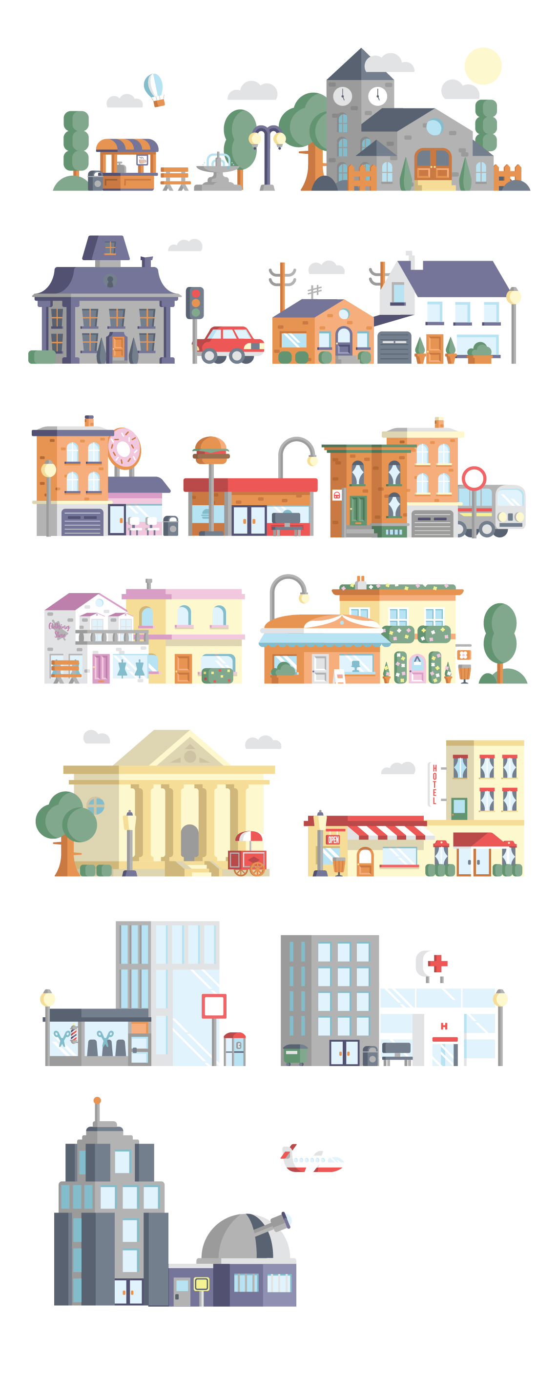 Download Free Street Scene Builder Graphic By Mike Hill Creative Fabrica SVG Cut Files