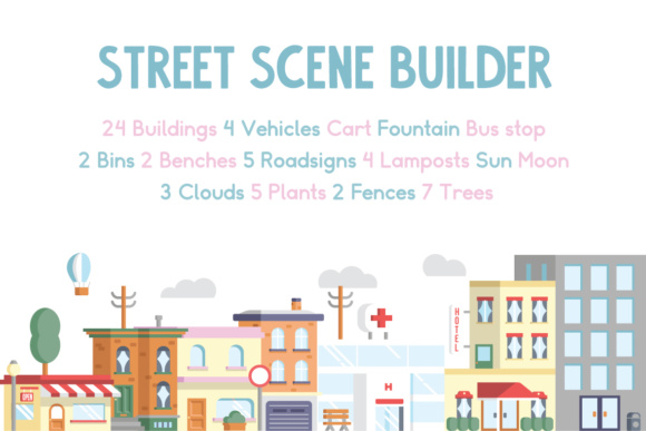 Street Scene Builder Graphic Illustrations By Mike Hill
