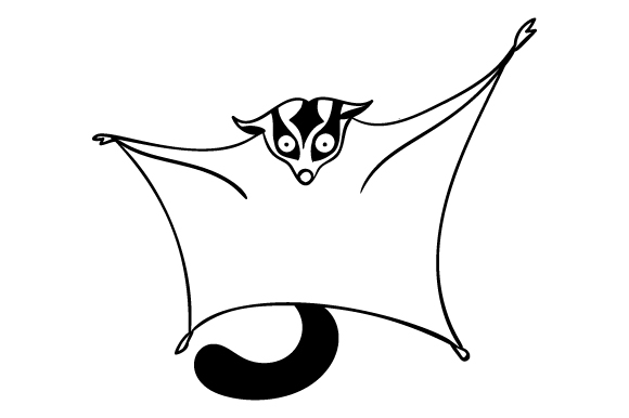 Download Free Sugar Glider Svg Cut File By Creative Fabrica Crafts Creative for Cricut Explore, Silhouette and other cutting machines.