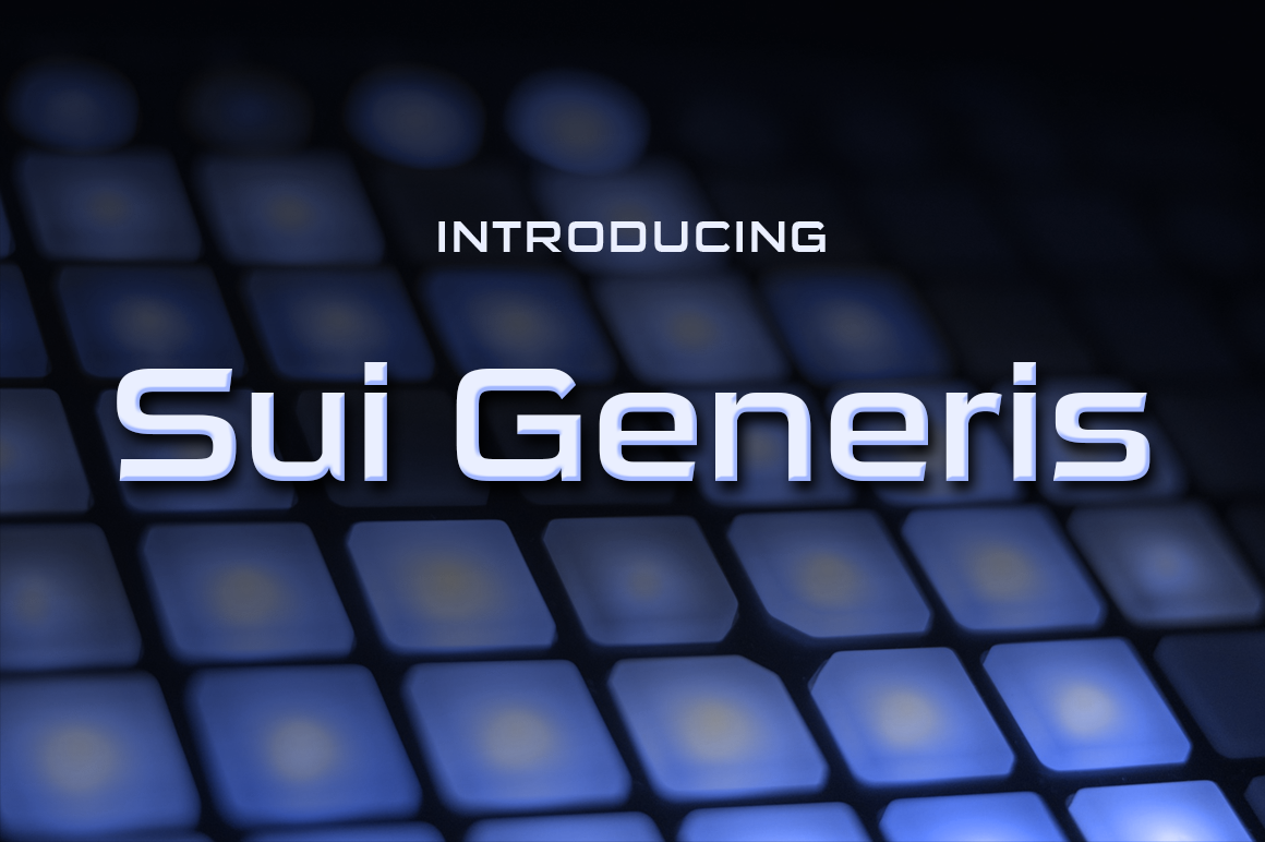 Sui Genesis Font By Typodermic