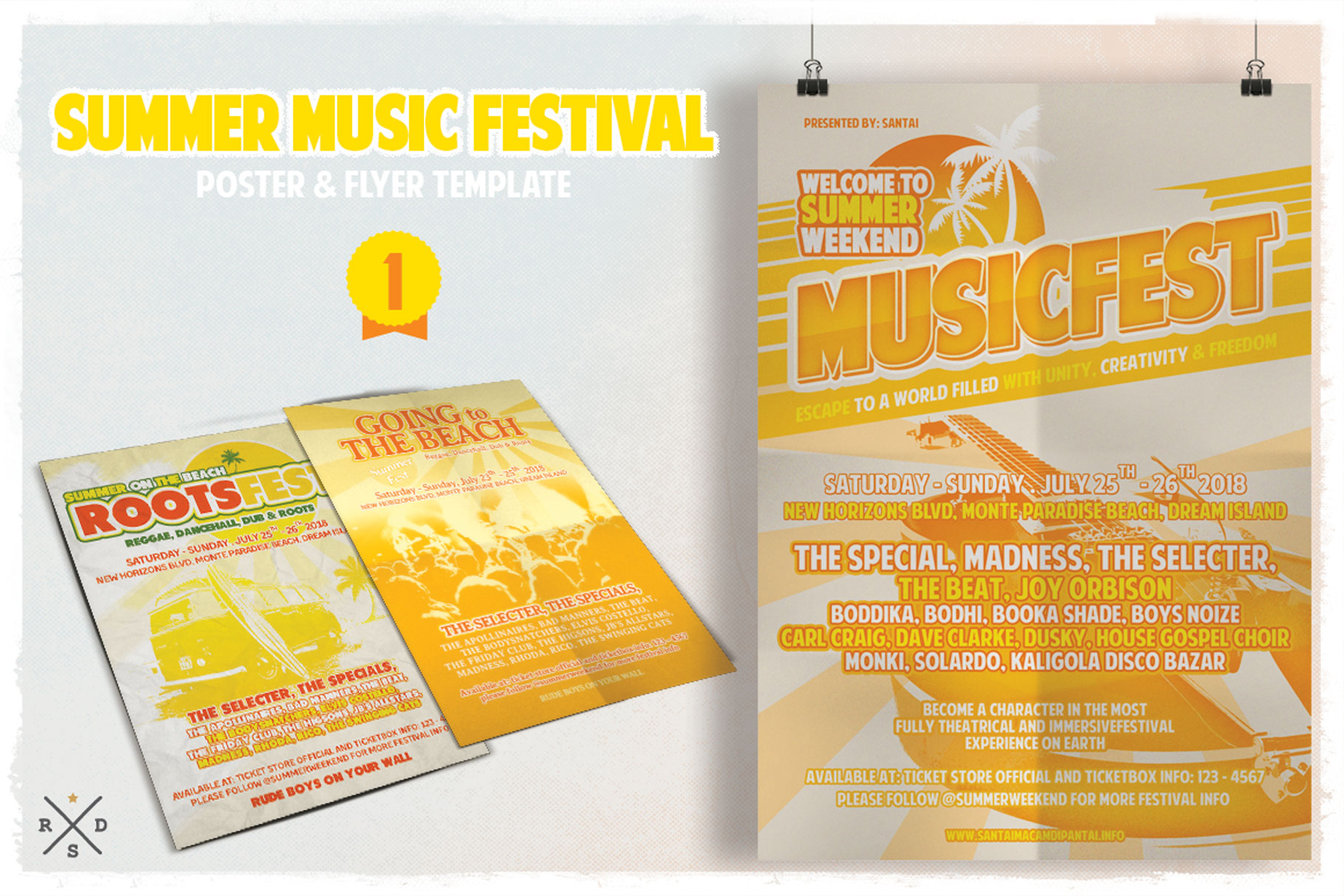 Print on Demand: Summer Music Fest Flyer & Poster Graphic Print Templates By Tiar Prayoga - Image 2