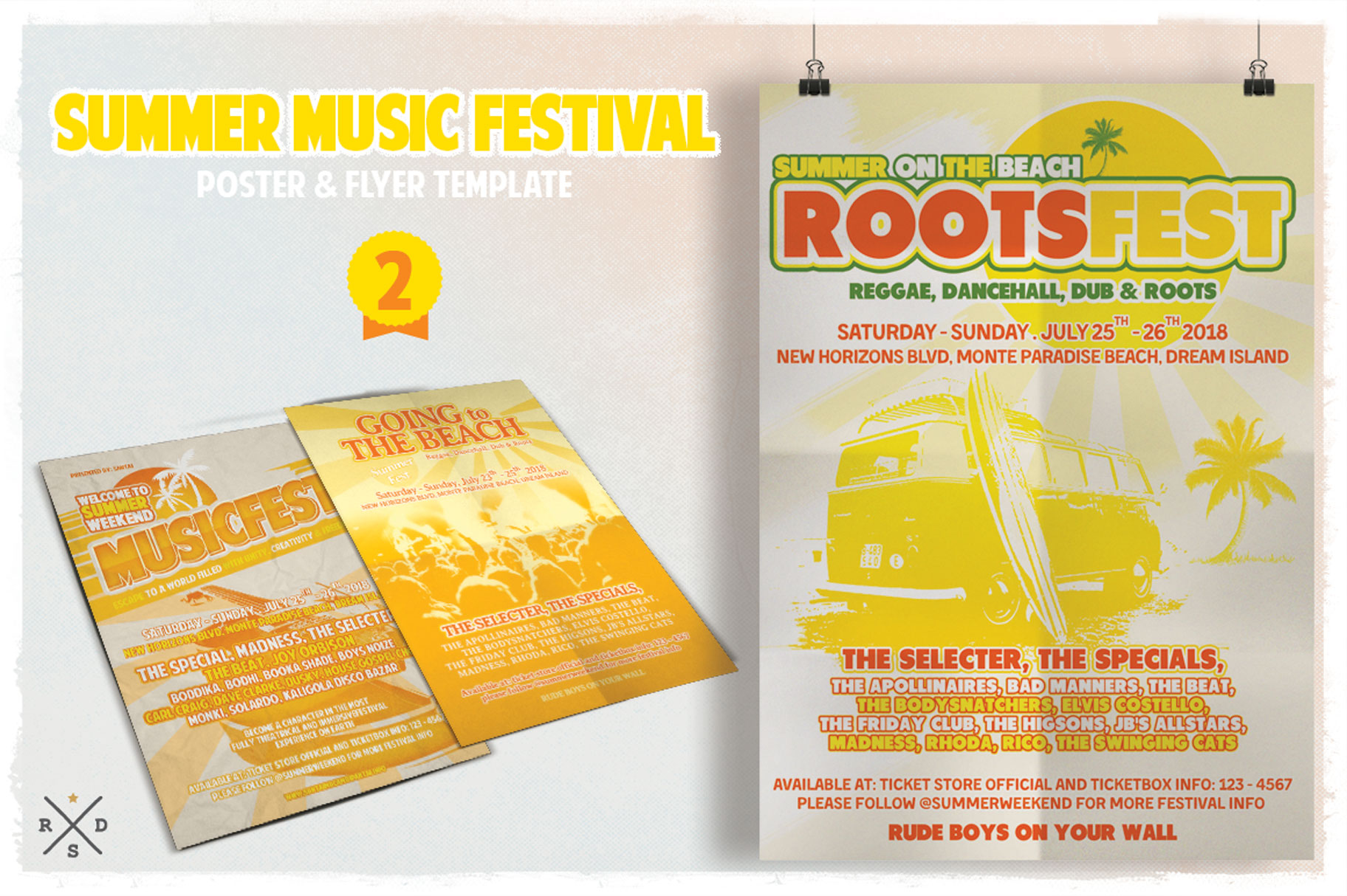 Print on Demand: Summer Music Fest Flyer & Poster Graphic Print Templates By Tiar Prayoga - Image 3