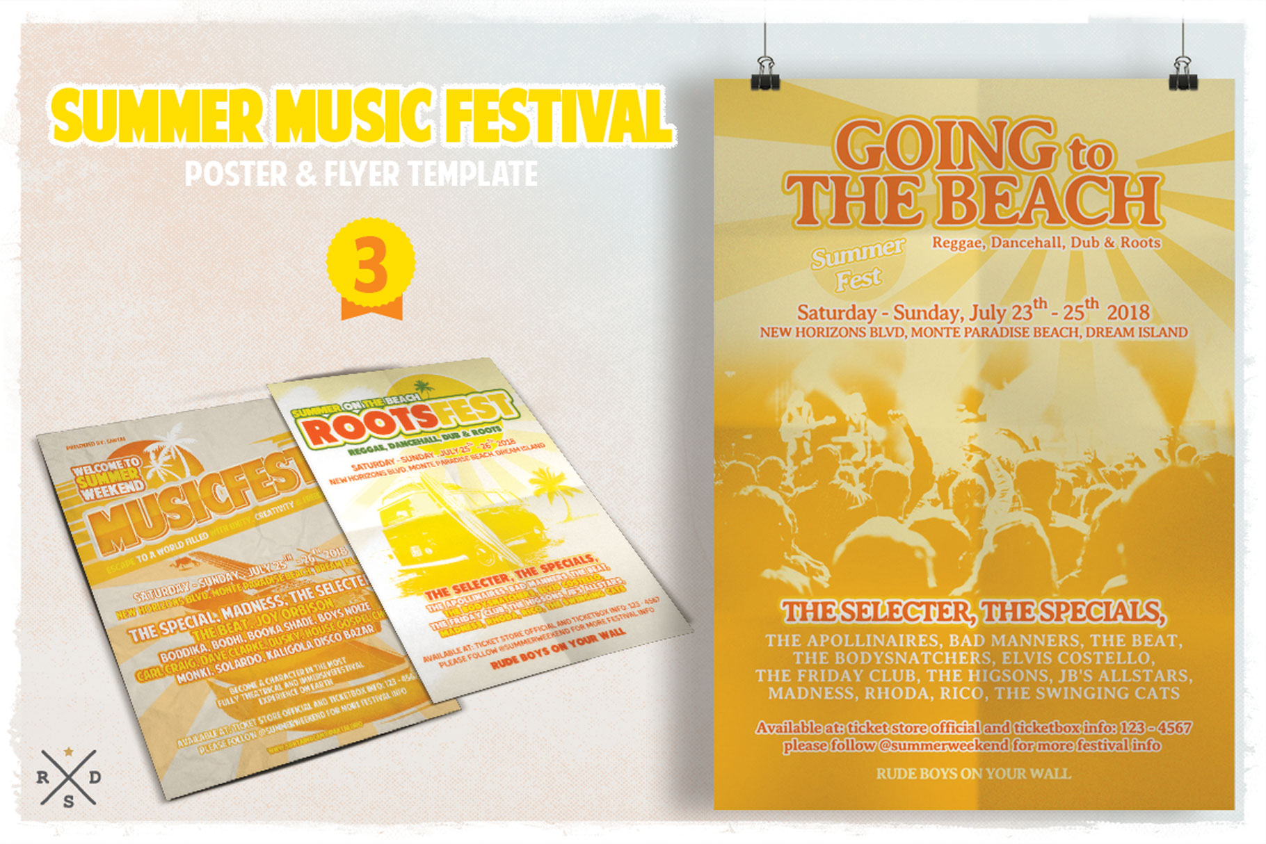 Print on Demand: Summer Music Fest Flyer & Poster Graphic Print Templates By Tiar Prayoga - Image 4