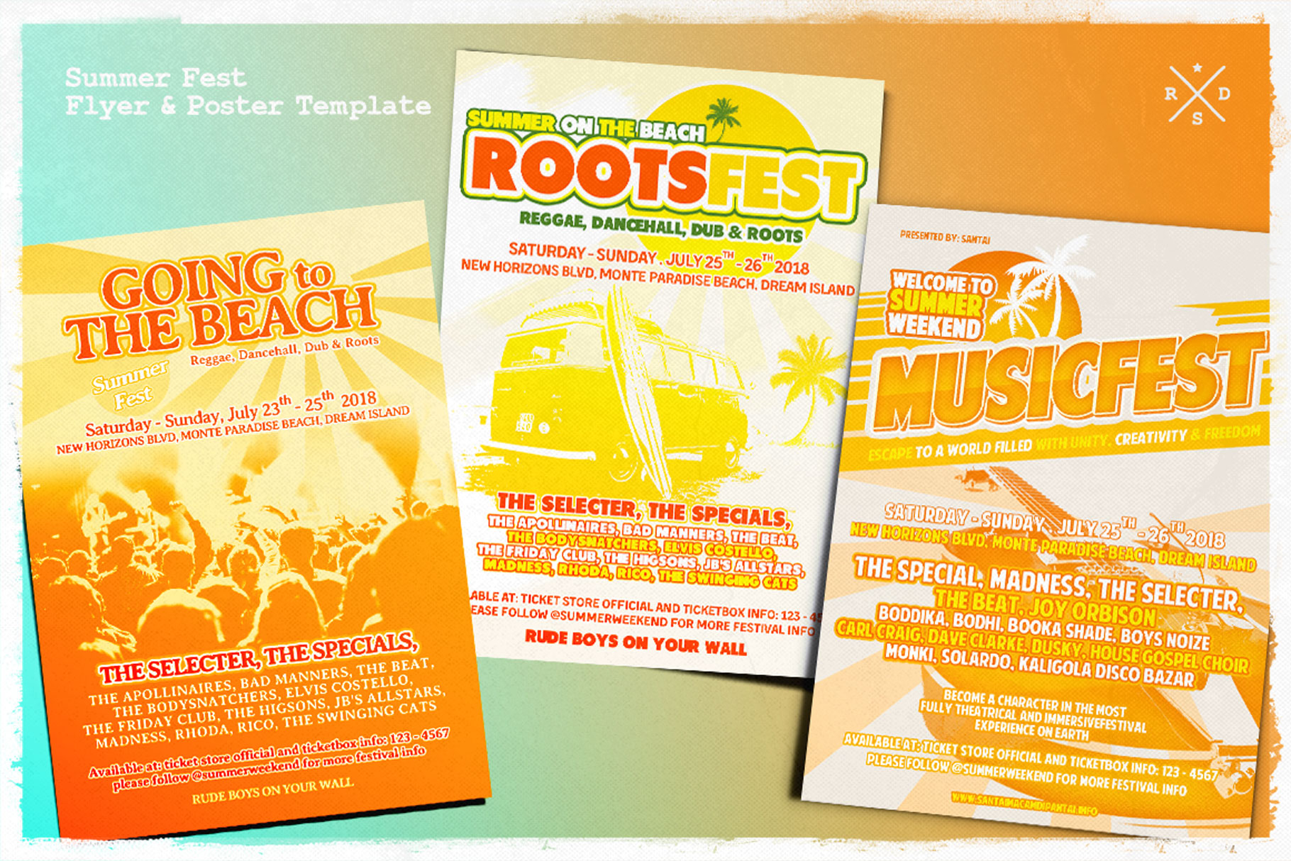 Print on Demand: Summer Music Fest Flyer & Poster Graphic Print Templates By Tiar Prayoga