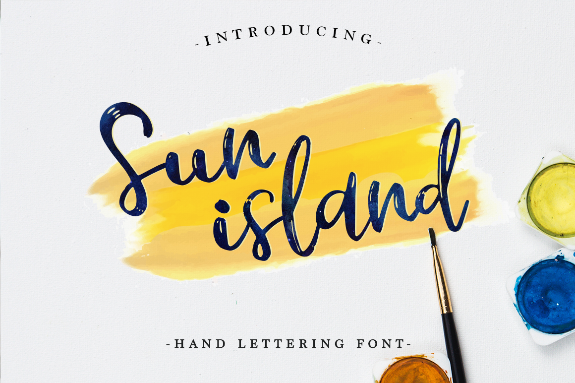 Print on Demand: Sun Island Script & Handwritten Font By Pasha Larin