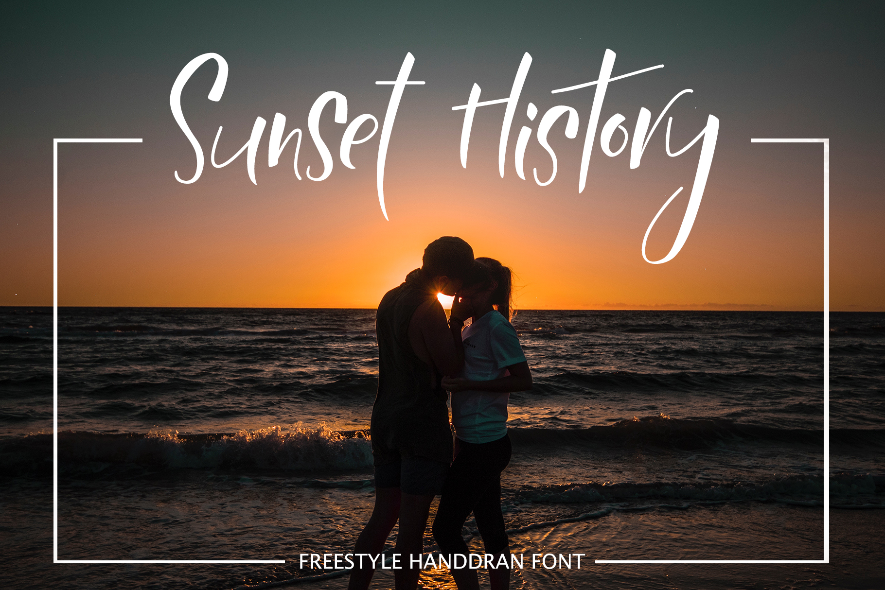Print on Demand: Sunset History Display Font By tregubova.jul - Image 1