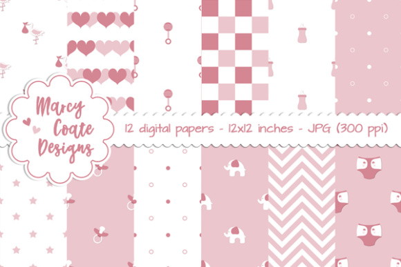 Download Free Sweet Baby Girl Backgrounds Graphic By Marcycoatedesigns for Cricut Explore, Silhouette and other cutting machines.