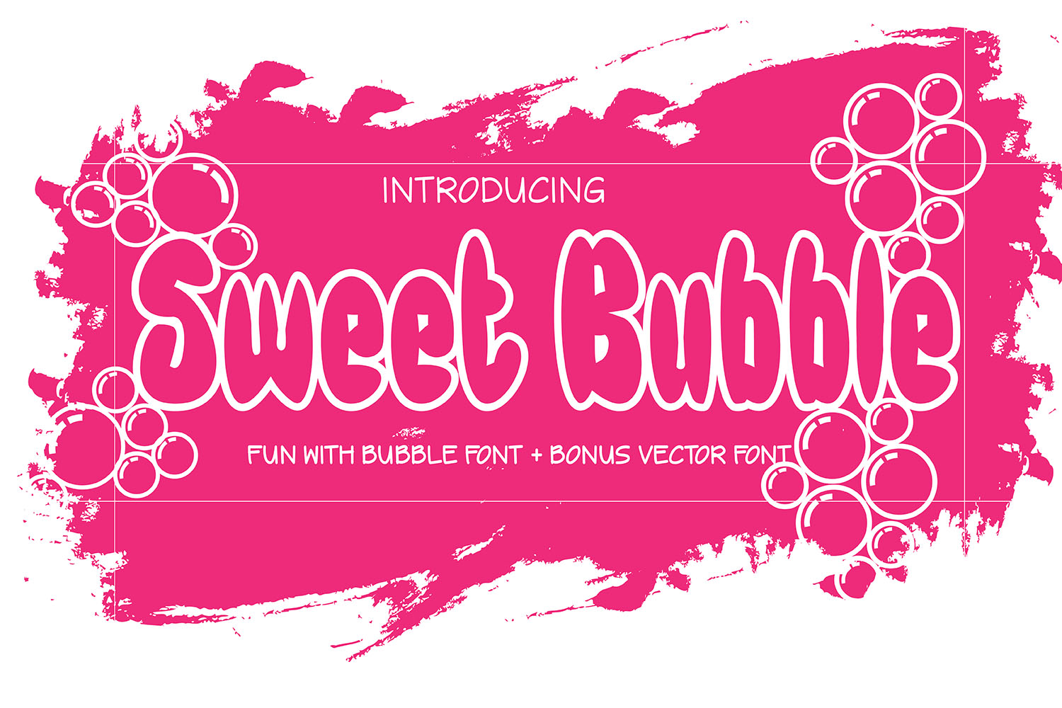 Sweet Bubble Dingbats Font By 38.lineart