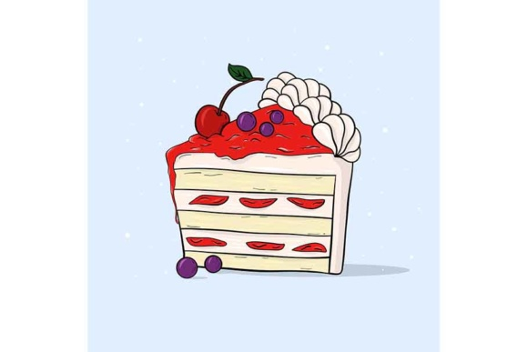 Sweet Cherry Pie Graphic Illustrations By Sasha_Brazhnik