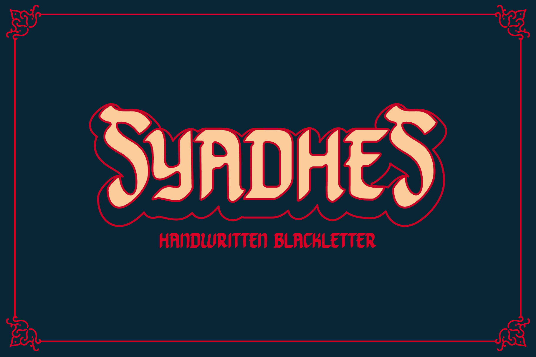 Print on Demand: Syadhes Blackletter Font By yellowline