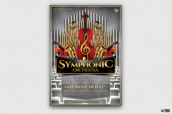 Symphonic Orchestra Flyer Template V1 Graphic Print Templates By ThatsDesignStore