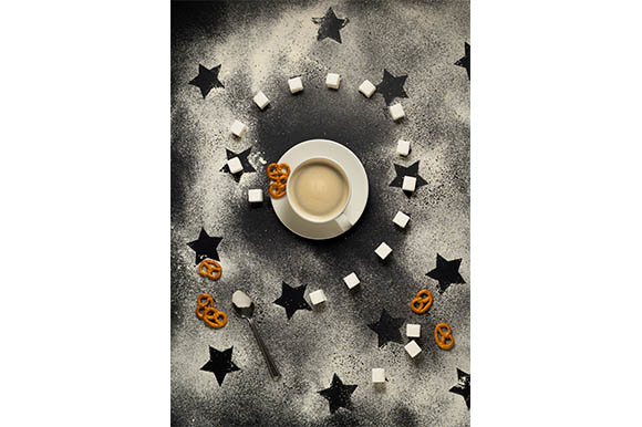 Tea Time in Space Graphic Food & Drinks By Sasha_Brazhnik