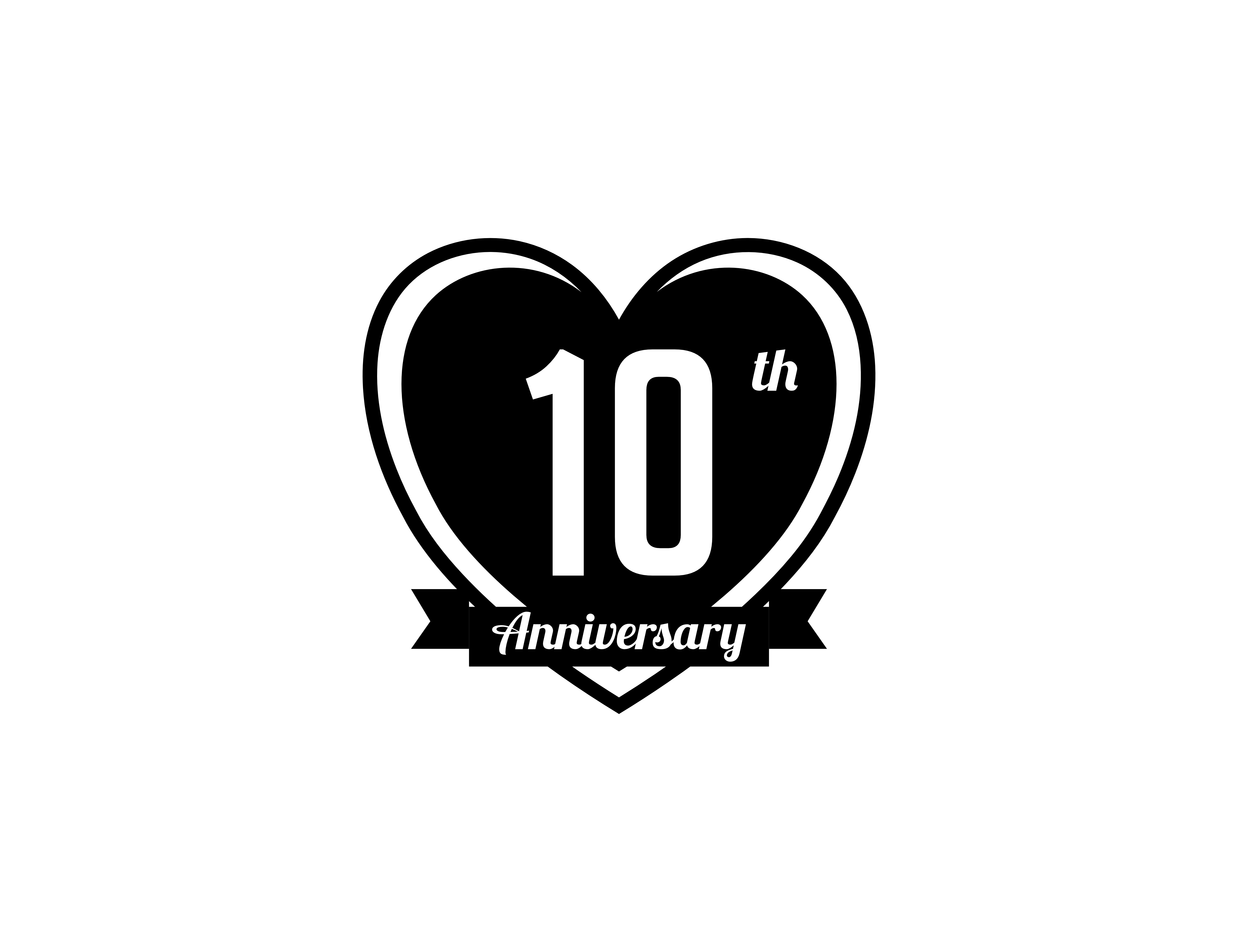 Print on Demand: Ten Year Anniversary Badge Graphic Icons By meisuseno