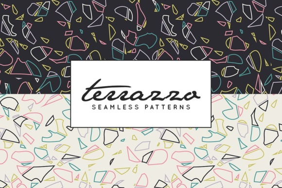 Print on Demand: Terrazzo Inspired Digital Paper Pack - Vector Patterns Graphic Patterns By illuztrate - Image 3
