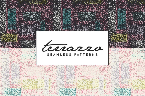 Print on Demand: Terrazzo Inspired Digital Paper Pack - Vector Patterns Graphic Patterns By illuztrate - Image 4