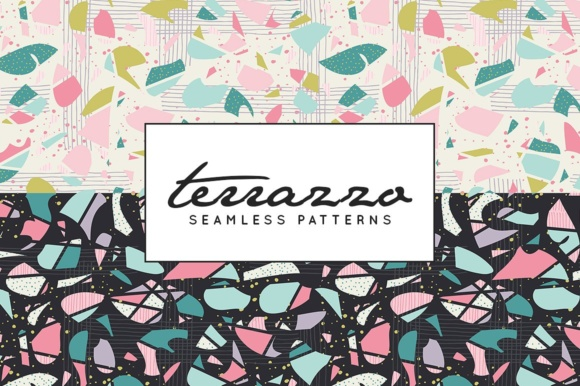 Print on Demand: Terrazzo Inspired Digital Paper Pack - Vector Patterns Graphic Patterns By illuztrate - Image 5