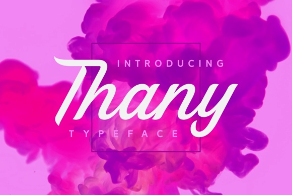 Thany Script & Handwritten Font By Situjuh