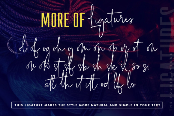 Print on Demand: The Fourth Avenue Script & Handwritten Font By Mercurial - Image 12