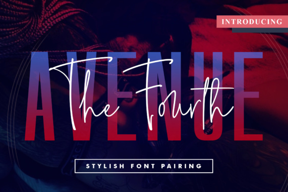 Print on Demand: The Fourth Avenue Script & Handwritten Font By Mercurial - Image 1